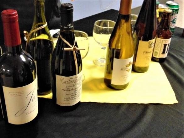 wine selections for Volunteer Dinner