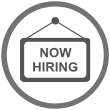 icon - now hiring sign