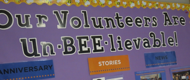 bulletin board with bee theme -