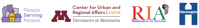 FFEC logos: People Serving People, UofM Center for Urban and Regional Affairs, Research in Action & Hennepin County