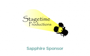 Stagetime Productions logo - Sapphire Sponsor - logo with link to website